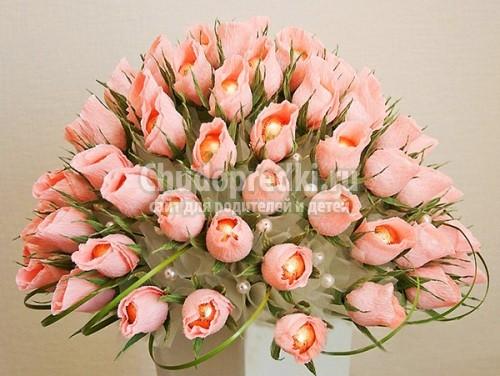 Новогоднее украшение цветы своими руками